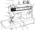 Click here to enlarge image and see more about item smm527: PRINTED Singer 834 Finesse sewing machine manual (smm527)