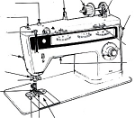 Click here to enlarge image and see more about item smm527a: PRINTED Singer 814 Finesse sewing machine manual (smm527a)