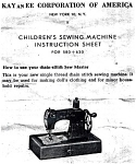 Click here to enlarge image and see more about item smm545: KAYanEE Sewmaster sewing machine instruction sheets