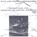 Click here to enlarge image and see more about item smm546: KAYanEE Sewmaster sewing machine instruction sheets