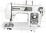 Click here to enlarge image and see more about item smm548a: Fotomatic Morse 4300 III sewing machine manual