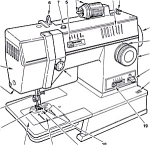 Click here to enlarge image and see more about item smm564: PRINTED Singer 5 pattern sewing machine manual (smm564)