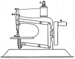 Click here to enlarge image and see more about item smm0363: Gateway Junior model NP-1 toy sewing machine instruction sheet