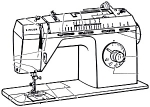 Click here to enlarge image and see more about item smm579b: PRINTED Singer 8019 sewing machine instruction manual (smm579b)