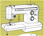 Click here to enlarge image and see more about item smm591: PRINTED Kenmore by Sears 1525 sewing machine manual (smm591)