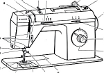 Click here to enlarge image and see more about item smm592: PRINTED Singer 8002 sewing machine instruction manual (smm592)