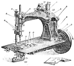 Click here to enlarge image and see more about item smm601: PRINTED Wheeler and Wilson model 8 sewing machine manual (smm601)
