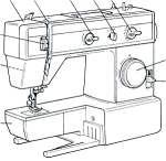 Click here to enlarge image and see more about item smm609: PRINTED Seammaster 1700 sewing machine manual (smm609)