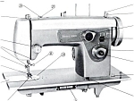 Click here to enlarge image and see more about item smm618a: PRINTED Kenmore by Sears 1300 sewing machine manual (smm618a)