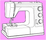 Click here to enlarge image and see more about item smm630: PRINTED Toyota 9600 sewing machine manual (smm630)