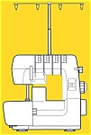 Click here to enlarge image and see more about item smm631b: Simplicity 4380ED serger sewing machine instruction manual original