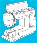 Click here to enlarge image and see more about item smm635: PRINTED RE 640 sewing machine manual (smm635)