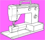 Click here to enlarge image and see more about item smm636: PRINTED Un named sewing machine manual (smm636)