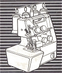 Click here to enlarge image and see more about item smm654: PRINTED Toyota 6600 serger sewing machine manual (smm654)