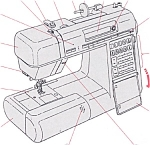 Click here to enlarge image and see more about item smm657: PRINTED Memory Craft New Home 4000 sewing machine manual (smm657)