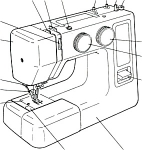 Click to view larger image of Janome JD 1810 sewing machine manual (Image1)