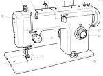 Click here to enlarge image and see more about item smm662: PRINTED Un named sewing machine manual (smm662)