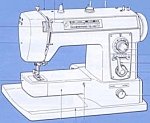 Click here to enlarge image and see more about item smm674origa: Brother 703 B  sewing machine manual original