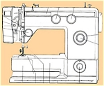 Click here to enlarge image and see more about item smm698: PRINTED Necchi model 531 FA sewing machine manual (smm698)