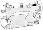 Click here to enlarge image and see more about item smm714: Barclay sewing machine manual