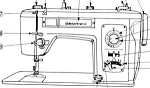 Click here to enlarge image and see more about item smm719c: 3KC 8828B zig zag sewing machine manual