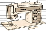 Click here to enlarge image and see more about item smm726: PRINTED Kenmore by Sears 1813 sewing machine manual (smm726)