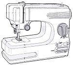 Click here to enlarge image and see more about item smm733: PRINTED Singer Tiny Tailor sewing machine manual (smm733)