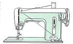 Click here to enlarge image and see more about item smm736: PRINTED Super Deluxe sewing machine manual (smm736)