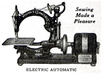 Click here to enlarge image and see more about item smm759: PRINTED Willcox and Gibbs electric sewing machine manual (smm759)