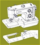Click here to enlarge image and see more about item smm772: PRINTED Kenmore by Sears 1937 sewing machine manual (smm772)
