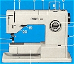Click to view larger image of PRINTED Pfaff 1222 sewing machine instruction manual (smm775b) (Image1)