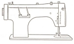 Click here to enlarge image and see more about item smm813: PRINTED Necchi Lelia 512 sewing machine manual (smm813)