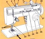 Click here to enlarge image and see more about item smm833: PRINTED Singer 1280 sewing machine manual (smm833)
