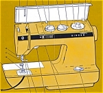 Click here to enlarge image and see more about item smm848: PRINTED Singer 1030 sewing machine instruction manual (smm848)