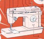 Click here to enlarge image and see more about item smm852: PRINTED Singer 7174 sewing machine manual (smm852)