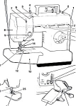 Click here to enlarge image and see more about item smm857: PRINTED Singer 5 stitches sewing machine manual (smm857)