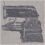 Click here to enlarge image and see more about item smm878: PRINTED Lewis class 200 sewing machine manual (smm878)