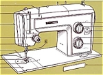 Click here to enlarge image and see more about item smm894: PRINTED Kenmore by Sears 1813 sewing machine manual (smm894)