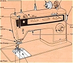 Click here to enlarge image and see more about item smm930: Finesse model 814 sewing machine manual