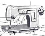 Click here to enlarge image and see more about item smm936b: PRINTED Kenmore by Sears 1205 sewing machine manual (smm936b)