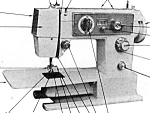 Click here to enlarge image and see more about item smm939b: Citation zig zag sewing machine manual