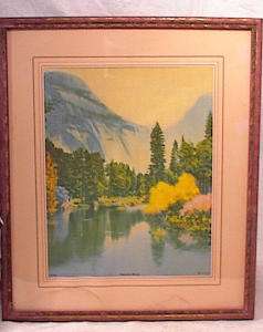 FINE ARTS STUDIO CHROMOLITH~MT LAKE SCENE~189 (Image1)