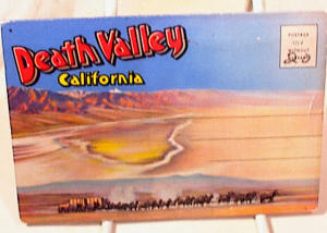 Vintage Death Valley P Card Booklet - Unused