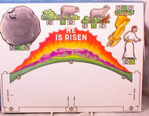 He Is Risen - 3d Paper Easter Scene - Mip -