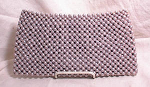 VINTAGE BEADED CLUTCH PURSE~SIGNED JOSEF (Image1)