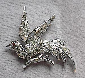 VINTAGE RHINESTONE BIRD PIN BY PELL (Image1)