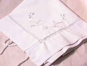 Pr Victorian Whitework Pillow Covers