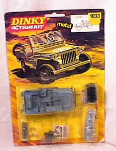 DINKY U S JEEP DIECAST MODEL KIT #1033 NRFB (Image1)