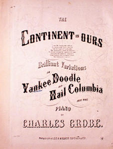 1857 PATRIOTIC SHEET MUSIC ~HAIL COLUMBIA (Image1)
