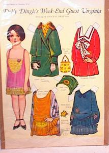 1926 DOLLY DINGLE ~WEEKEND GUEST VIRGINIA~ UN (Image1)